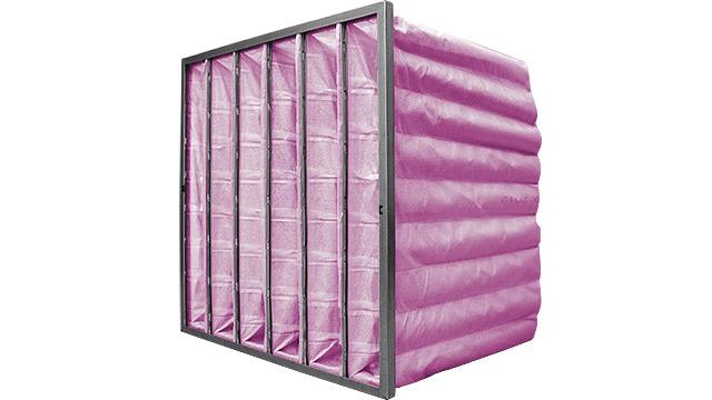 HVAC Bag Filter Pink F7