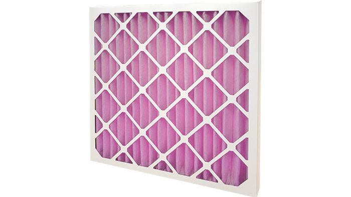 pink HVAC Pleated Panel Filter F7