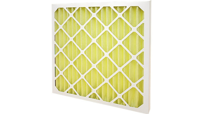 Yellow HVAC Pleated Panel Filter F8