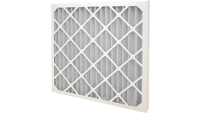 Grey HVAC Pleated Panel Filter F9