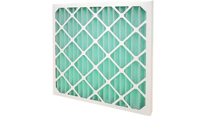Green HVAC pleated panel filter M6