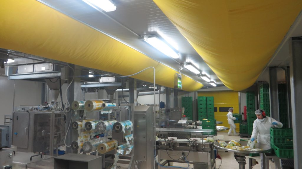 Fabric ducting in a food factory - fabric ducting tips