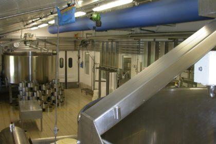 Air socks in food factory
