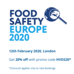 20% off Food Safety Europe 2020