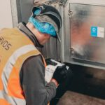 BESA accredited engineer completing cleaning record