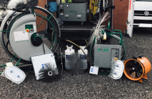 Some of the HVDS Engineers' Cleaning Equipment