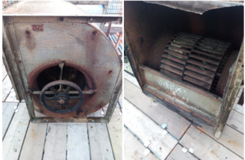 Old Fan Removed From Customer Site For Replacement