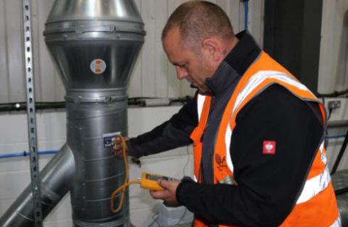 Engineer testing LEV